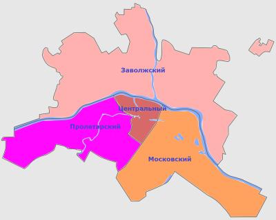Административное деление твери районы