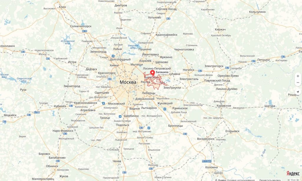 Карта Балашихи