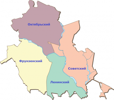 Карта Иваново с районами
