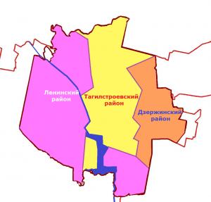 Районы Нижнего Тагила