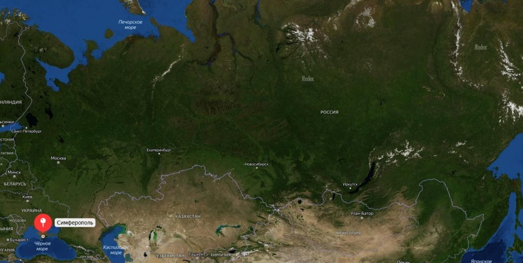 Симферополь на карте России