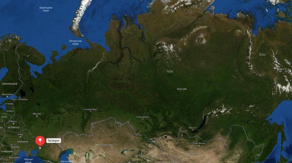 Таганрог на карте России